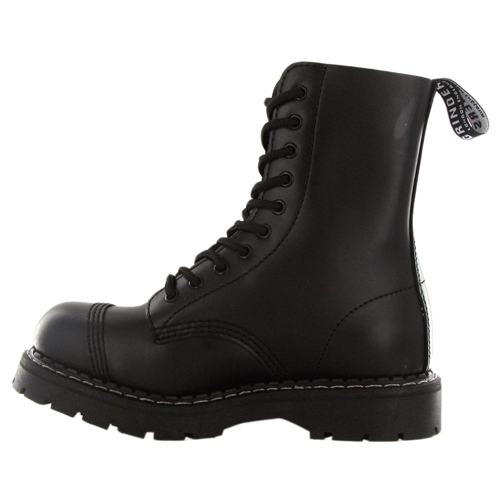 b71ea9ef1 Para mujers Para mujeres de Grinders Stag Negro Cuero con Cordones de botas  de uniforme de