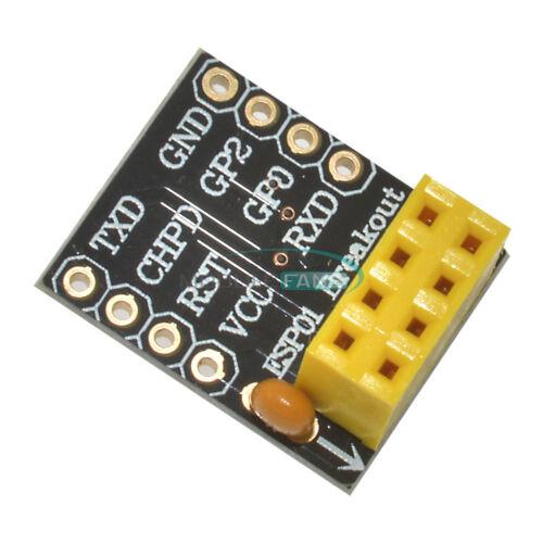 5PCS Breadboard Adapter for ESP8266 ESP-01//01S Wifi Transceiver Breakout Module