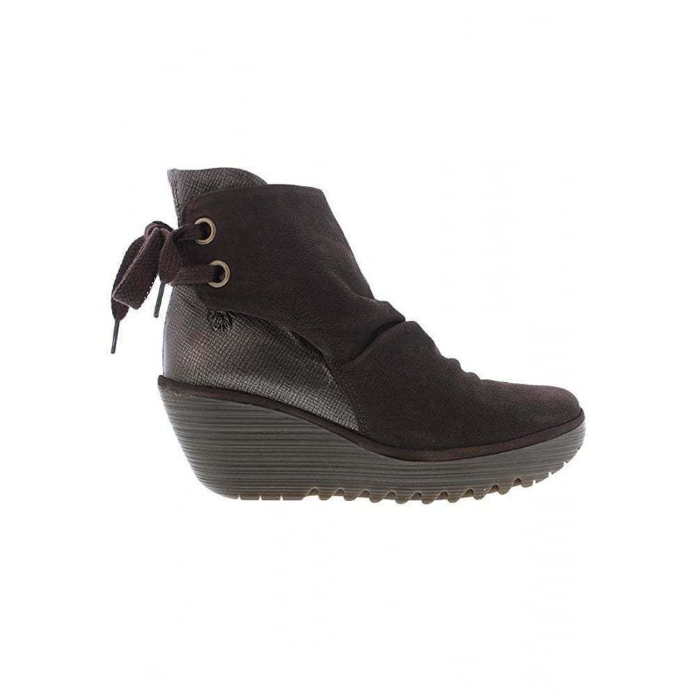 Damen Wildleder FLY LONDON Yama Stiefeletten Wildleder Damen flach lila anthrazit schwarz NEU 969df8