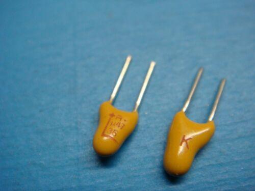 AVX TAP474K035 23V 0.47uF 10/% 125°C 2.5mm RADIAL TANTALUM CAPACITOR ROHS 100