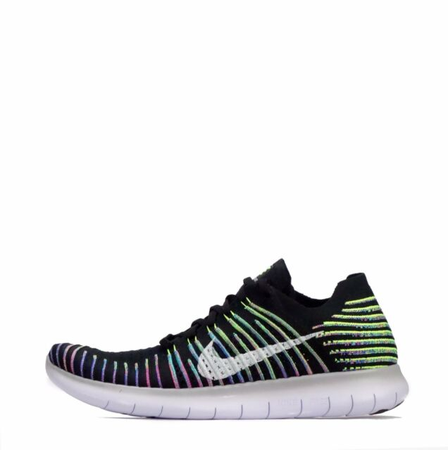 lowest price 34367 f60a6 Nike Free RN Run Flyknit Mens Running Shoes BlackVolt