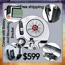Electric Bike 500W Front Wheel Kit With 36V 10.2 ah Lithium Battery.complete Kit