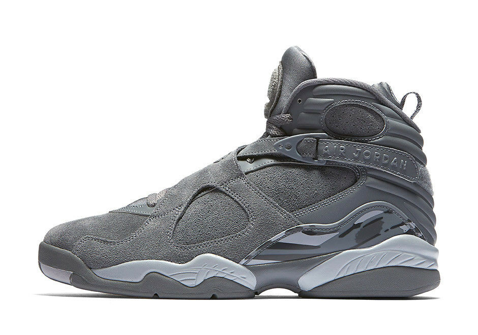 Nike Air Jordan 8 Retro COOL WOLF GREY SUEDE BLACK 305381-014 7 AQUA OVO BUNNY