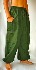 Balloon Harem Festival Trousers Mens and Ladies Army Green Khaki