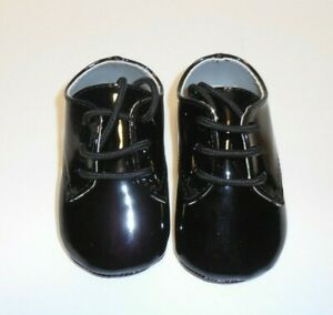 Baby Deer Black Patent Crib Shoes Boys Size 3 6 9 Months New Crawling Stage 79092603918 Ebay
