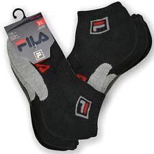 FILA 3pk Swift-Dry Anklet Cushion Socks Size 9-11 Shoe Size 4-10 Black 3 PAIRS