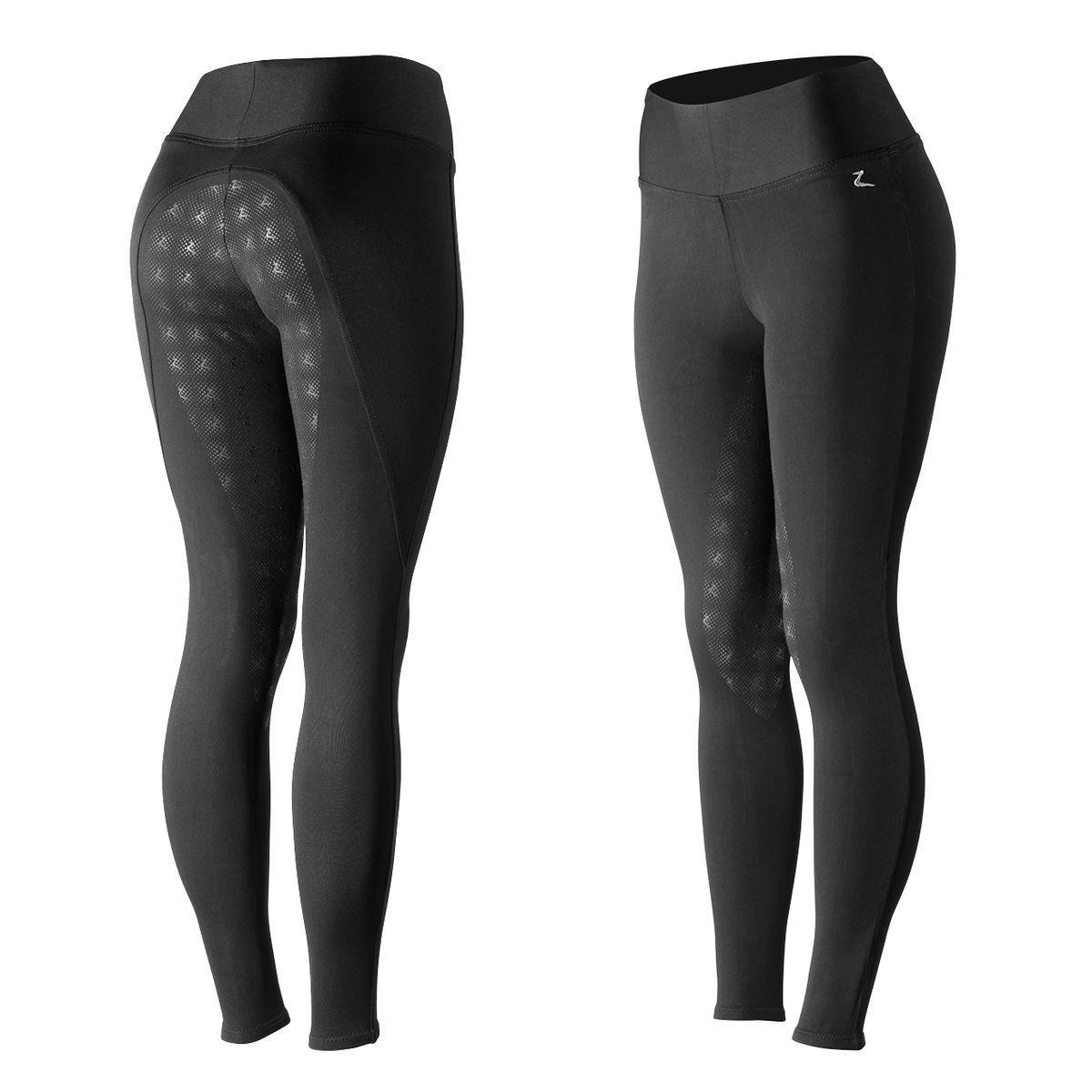 Horze Damas Juliet Negro Pantalones de montar de asiento completo inglés Hyper Flex Calzas De Venta