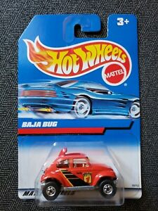 Rare Hot Wheels 1998 Baja Bug Red Dakar Rally #835 Blue Card 19713 Made in India
