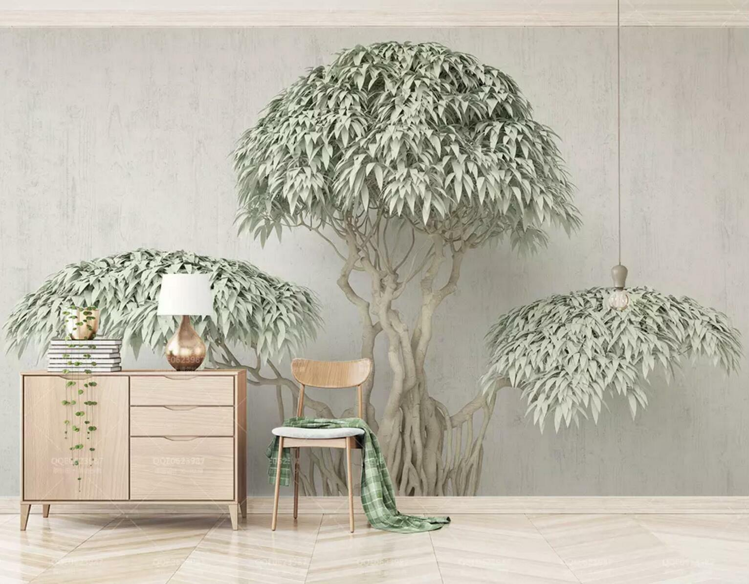 3D Grün Leaf Old Tree 56 Wall Paper Exclusive MXY Wallpaper Mural Decal Indoor