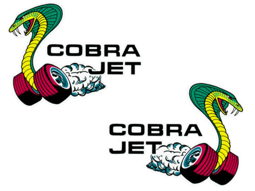 New Ford Window Decals Cobra Jet Snake Exterior LH RH Pair