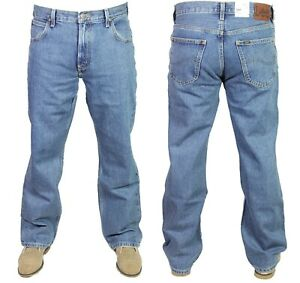 7480dc67 Men's Lee Ranger Straight Leg Jeans Light Stonewash Denim Pants ...