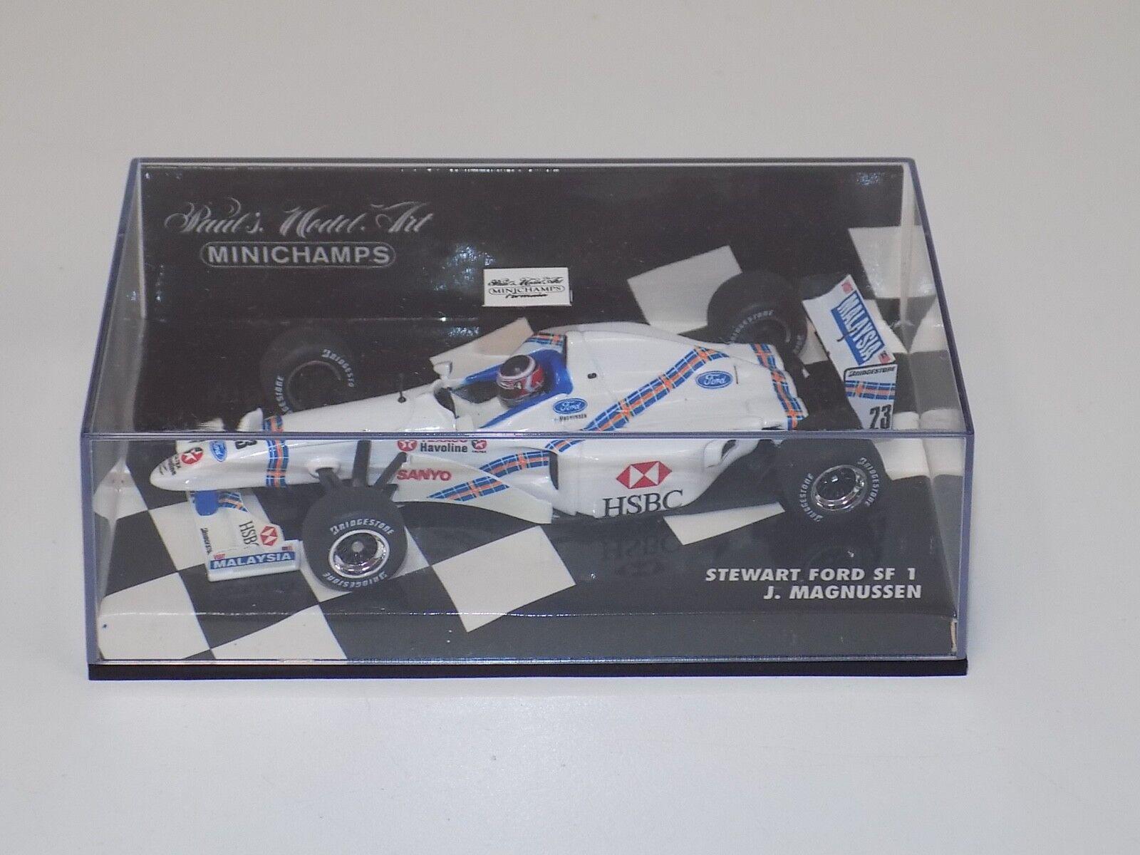 1 43 Minichamps F1 Stewart F1 Team Ford Ford Ford SF1 J.Magnussen 1997 776475
