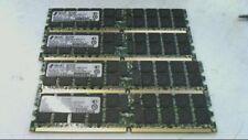 Lot of 4 x 2GB 8GB PC2-3200 DDR2 ECC REG Server Memory RAM