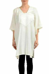 Maison-Margiela-4-100-Silk-White-Short-Sleeve-Women-039-s-Tunic-Blouse-US-S-IT-40