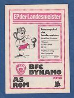 Orig.PRG   EC 1  1983/84   BFC DYNAMO BERLIN - AS ROM  1/4 FINALE  !!  SELTEN