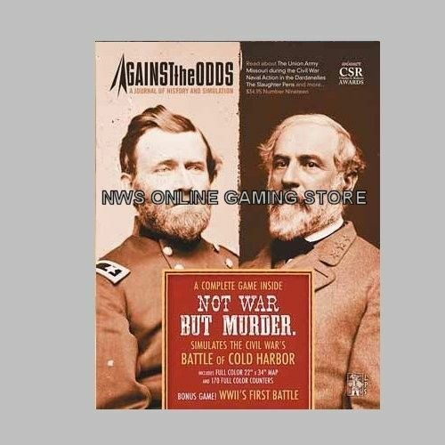 AGAINST THE ODDS - JOURNAL & BOARD WARGAME - NOT WAR BUT MURDER