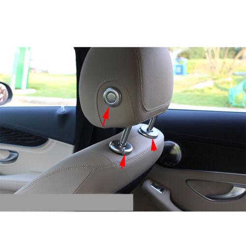 Seat Headrest Adjust Button Trim Cover For Mercedes Benz C GLC Class W205 15-17