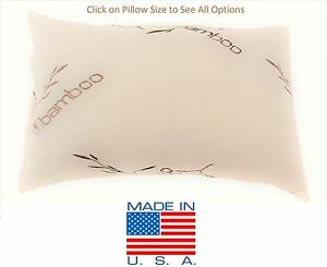 Bamboo-Shredded-Memory-Foam-Pillow-Made-In-USA-Queen-King-Standard-Travel