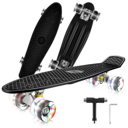 Complete Skate Boards Skateboard LED Wheels for Beginners Teens Girls Gifts