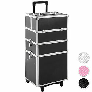 Alu-Valise-a-Cosmetiques-Trolley-a-Maquillage-a-Roulettes-Beaute-Salon-Coiffure