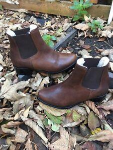 4 Milana Leather Size Ladies Ankle Casual Boots Uk Women's Chelsea Brown Eu 37 IrnI0wzfq