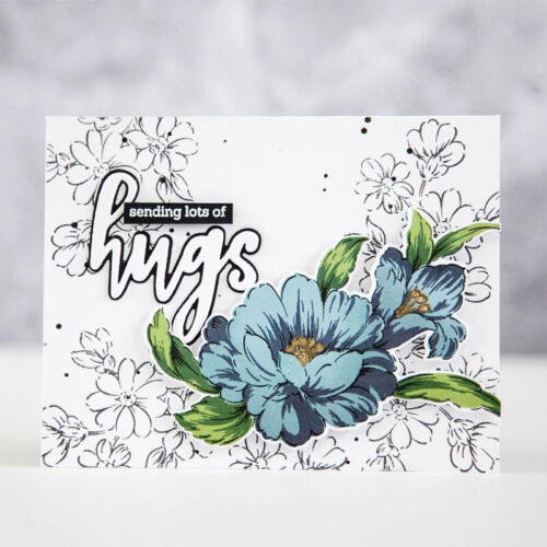Mixed Flower Vase Clear stamps Coordinate Cutting Dies DIY Scrapbooking Cards