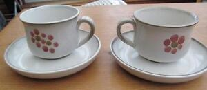Denby-Gypsy-Tea-Cups-amp-Saucers-pair-12-99-Post-Free-UK