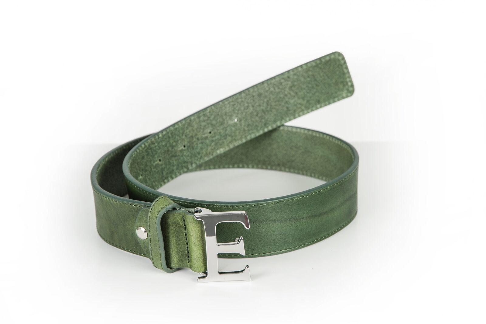 Equiline Ledergürtel BETTA grün mit großer Schnalle Schnalle Schnalle 16681c