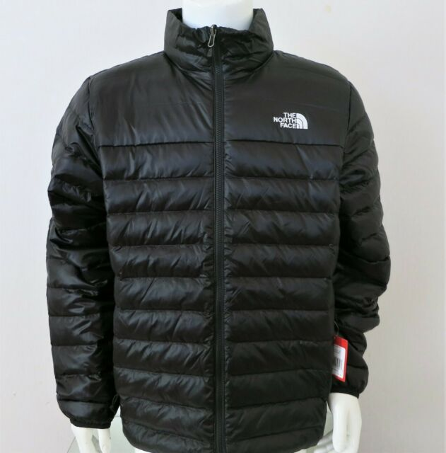 Authentic The North Face Nuptse Goose Down Blue Black Mens