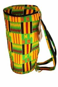 African Kente Cloth Djembe Drum Bag - Large Size Case
