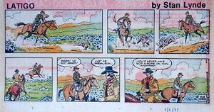 Latigo-by-Stan-Lynde-Western-comic-scarce-color-Sunday-page-May-3-1981