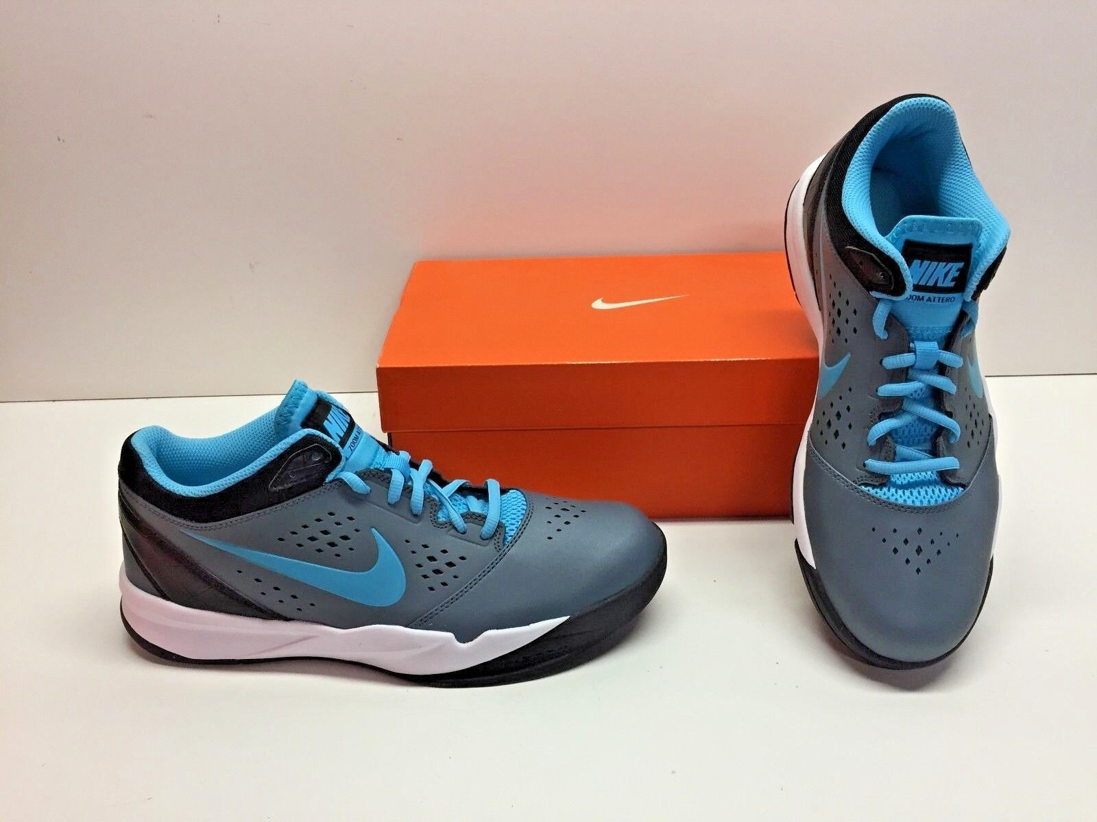 Nike Zoom Attero Basketball Slate Blue Athletic Casual Sneakers Shoes Mens 10.5