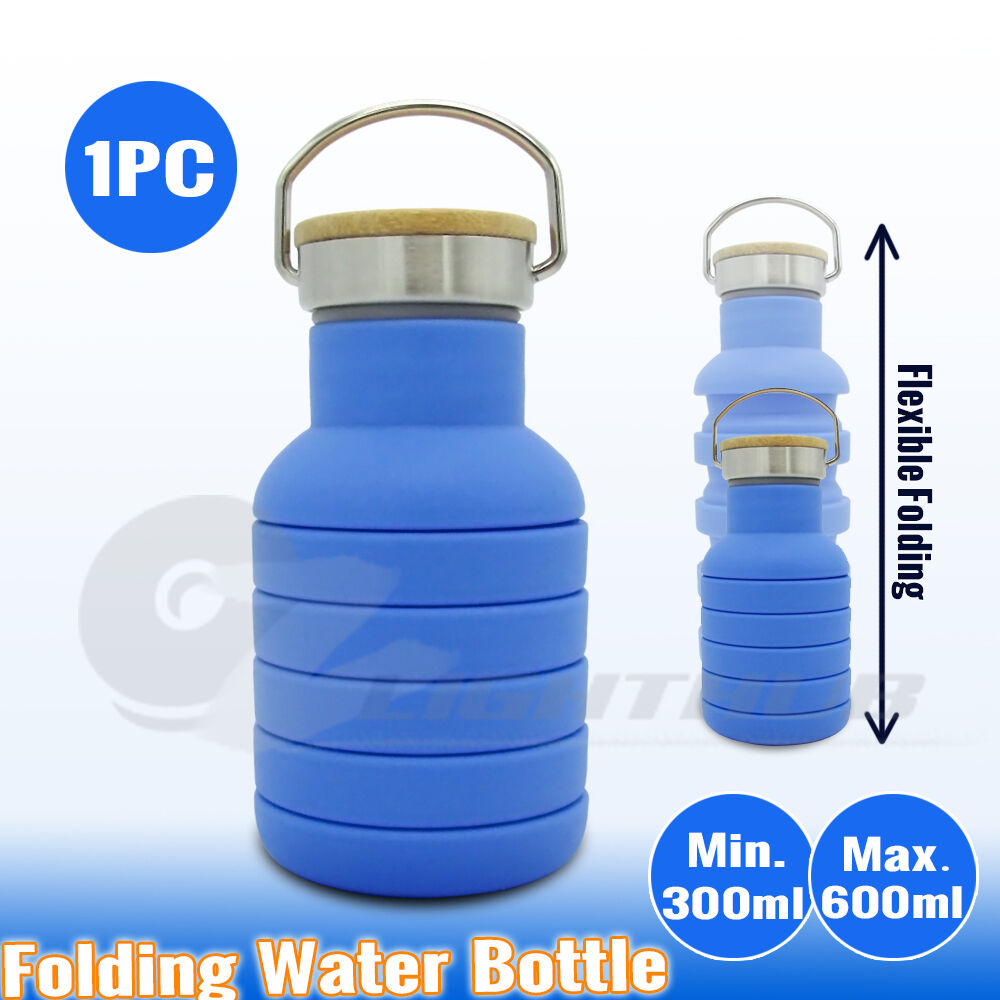 Collapsible Hiking Water Bottle Office Outdoor Folding Camping Kettle Gym Cup