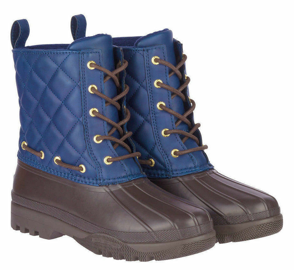 Sperry Topsider Women's Gosling Quilted Lace Up Cold Weather Boot  bluee  Brown