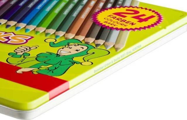 Jolly Buntstifte Superstick Classic 24er Metalletui Farben kinderfest