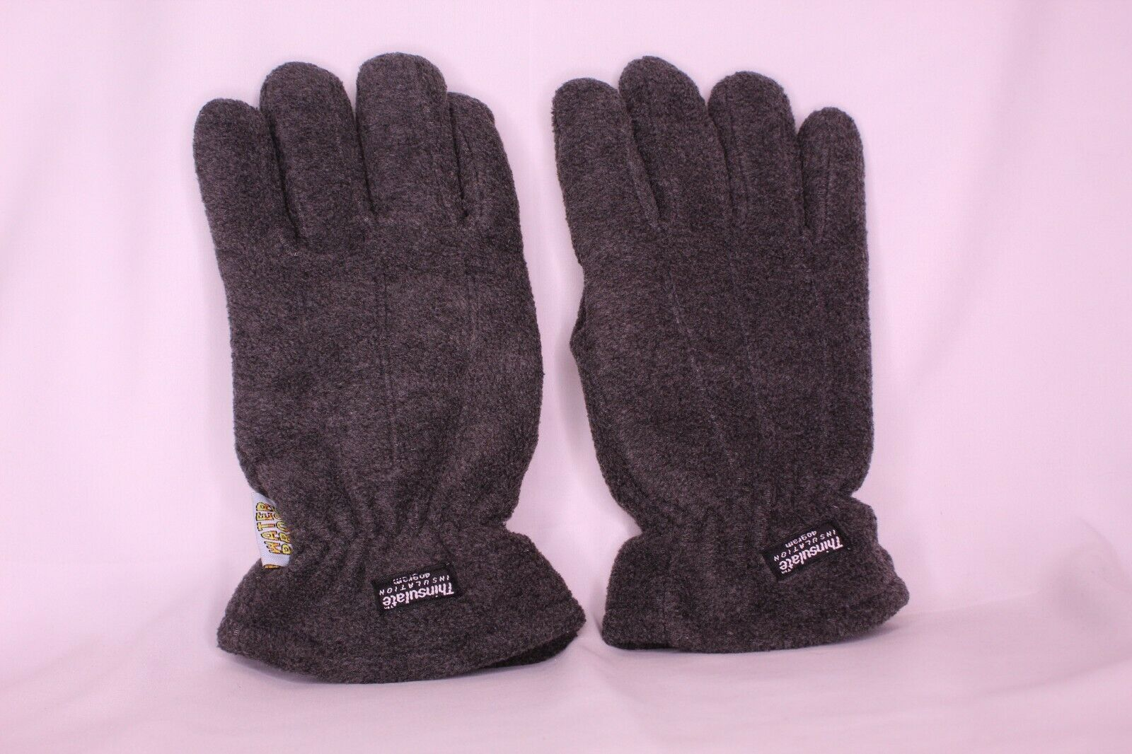 THINSULATE THERMAL INSULATION GRAY WATER PROOF POLYESTER/LEATHER MEN ONE SZ #823