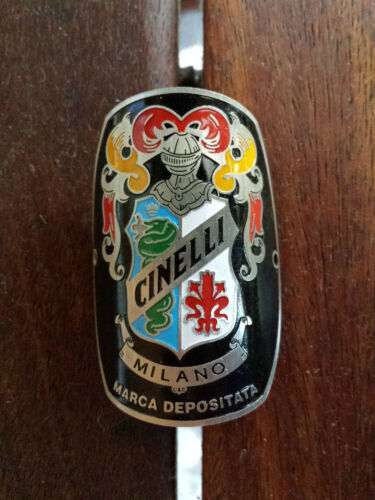 Cinelli Milano Bicycles Metal Headbadge-Silver Type