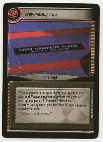 Star Trek CCG These Are The Voyages RARE 12R37 Grav-Plating Trap