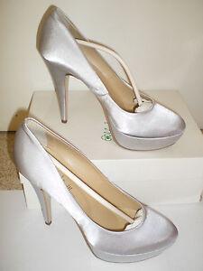 Caricamento dell immagine in corso scarpa-decollete-cerimonia -plateau-raso-grigio-perla-argento- 71c4e14df9e