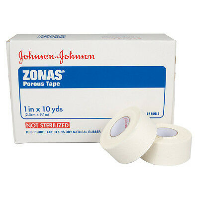 """Johnson & Johnson 1"""" Zonas Porous Athletic Trainers Tape, One Roll 005104  5104"""
