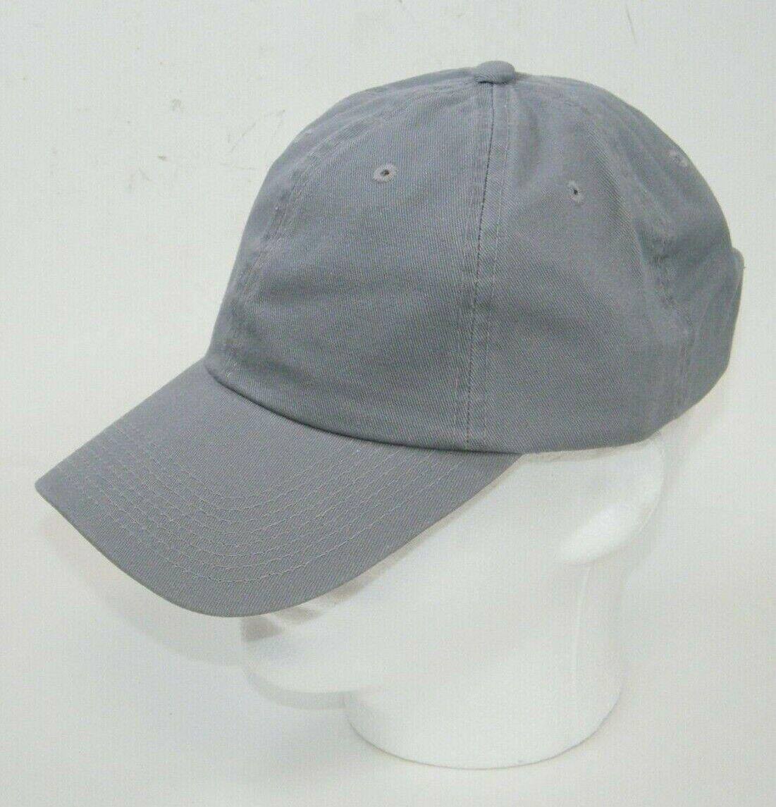 (5) FAHRENHEIT HEADWEAR 508 CAPS / HATS GARMENT WASHED GRAY BUCKLE BACK
