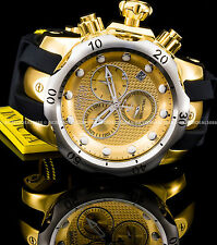 Invicta Reserve Venom Swiss Chronograph 18K Gold Plated Silver Bezel Watch
