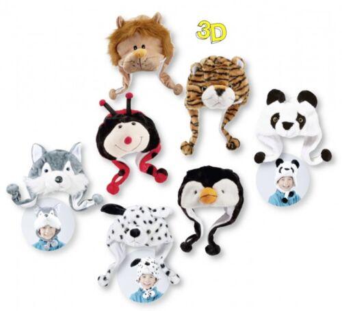 CH-7100 Animal Gorros 3D para niños Hermoso Motive super dulce,león,panda,tigre