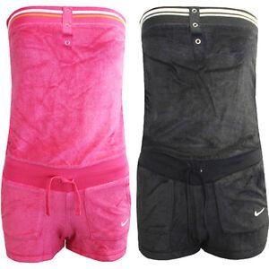 Nike-solido-Terry-Vestido-Pareo-Sujetador-Bandeu-Mujer-Mono-417334-EE15-EE24