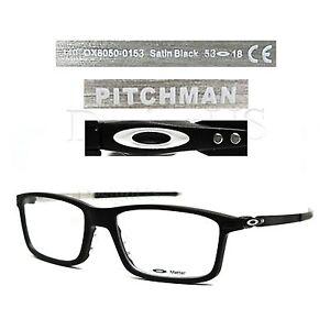 0e6670e32f Details about Oakley PITCHMAN OX8050-0153 Satin Black 53 18 140 Eyeglasses  Rx - Authentic New
