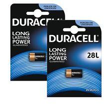2 x DURACELL 28L 6V/B LITHIUM PHOTO BATTERIES PX28L L544 2CR1/3N EXPIRY 2024