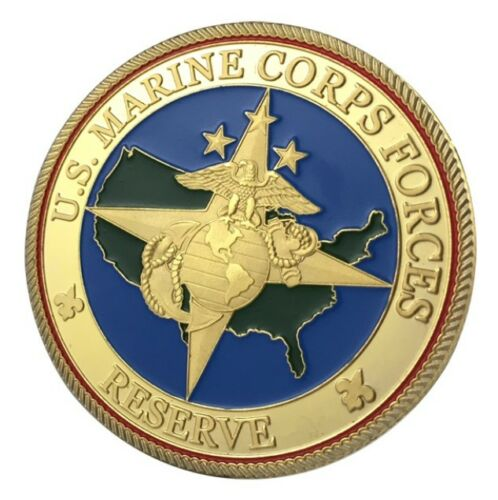 U.S United States Marine Corps Forces USMC ReserveMilitary Gold Plated Coin