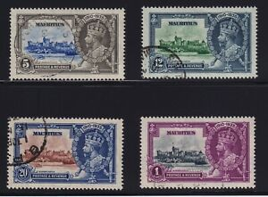 Mauritius-Sc-204-7-1935-King-George-V-Silver-Jubilee-Set-Used