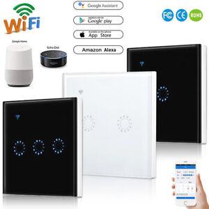 1 2 3 Gang Home Wall Light Smart WiFi RF Touch Switch Remote Control EU/UK Panel
