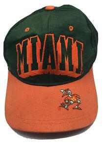 Vintage-90s-Miami-Hurricanes-hat-cap-classic-orange-green-snapback